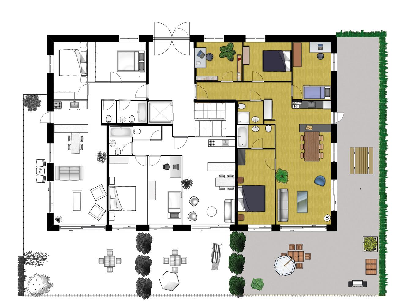 Great Aménagement Possible De Lu0027appartement Vu Sur Lu0027étage Complet.